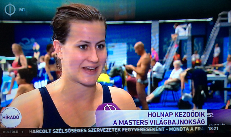 Bogyay Anna, RLSE-s mű- és toronyugró versenyző és edző a Híradónak nyilatkozik