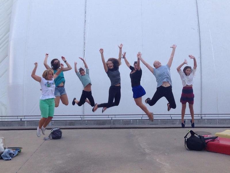 Tavaly ennyire örültünk a műugró medence befedésének