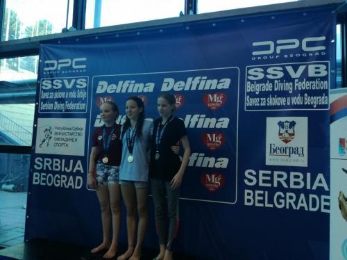 Hnatyszyn Vanda bronzérmes B lány 3 méteren