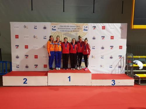 Fazekas-Gondos Flóra és Kormos Villő bronzérmes 3 méteres szinkronugrásban