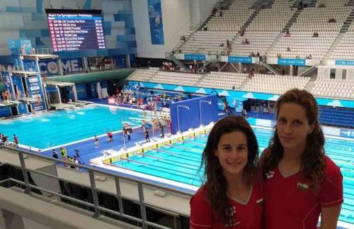 RLSE versenyzők az új Duna Arénában