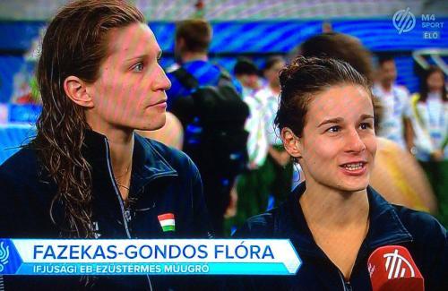 Nyilatkoznak a lányok az M4 Sportnak a női 3m-es szinkron versenyszám után