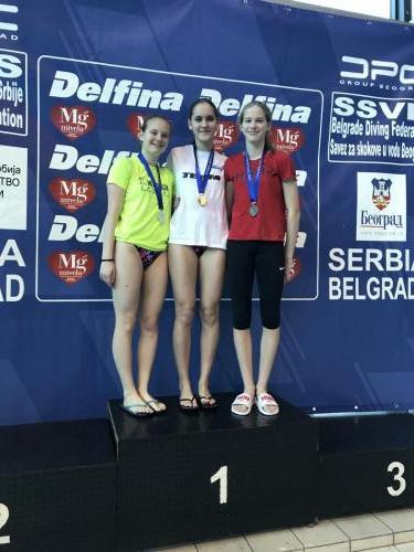 Hnatyszyn Vanda bronzérmes A lány 1 és 3 méteren