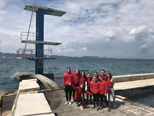 Piroskák a kedvenc helyünkön, a zadari tengerparti toronynál